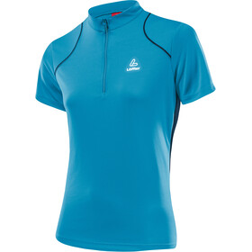 Löffler Pura Bike Shirt Half-Zip Damen topazblue